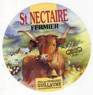 Jan20 63247 A     étiquette Saint Nectaire Fromagerie  Guillaume   Montaigut Le Blanc - Cheese
