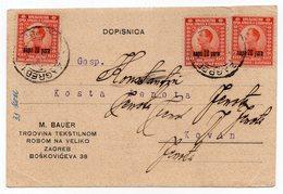 1924, KINGDOM OF SHS, CROATIA, ZAGREB TO KOVIN, M. BAUER, TEXTILE WHOLESALERS - 1919-1929 Kingdom Of Serbs, Croats And Slovenes