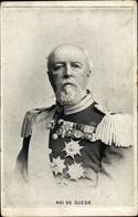 Cp Roi Oskar II. Von Norwegen Und Schweden, Portrait In Uniform, Orden - Familles Royales