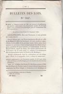 Bulletin Des Lois 762* De 1840 Correspondance France Sardaigne - Organisation De La Gendarmerie Coloniale - Décrets & Lois