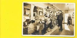 Rare Carte Photo Timonerie De SS PARIS The Captain Bridge - Paquebots
