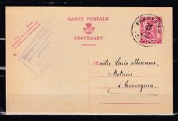 Postkaart Van Frameries Naar Quaregnon - 1935-1949 Petit Sceau De L'Etat