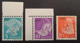 Suisse: Franchise Yvert N° 13A/14A/15A (émission 1935 Avec Chiffre, Papier Normal) Oblitérés - Franchise