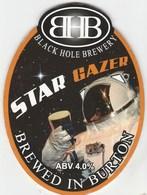 BLACK HOLE BREWERY (BURTON ON TRENT, ENGLAND) - STAR GAZER - PUMP CLIP FRONT - Schilder