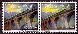 (2278) Schweiz 2013 The 100th Anniversary Of Lötschberg Railway O Used/gestempelt Waagrechtes Paar (A-7-26) - Switzerland