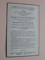 DP > Augusta HENDRIKX ( Henricus DIELEN ) Antwerpen 18 Juni 1881 - 1 Juni 1956 ! - Décès