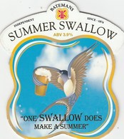 BATEMANS BREWERY (WAINFLEET, ENGLAND) - SUMMER SWALLOW - PUMP CLIP FRONT - Schilder