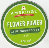 AMBRIDGE BREWING COMPANY (INKBERROW, ENGLAND) - FLOWER POWER IPA - PUMP CLIP FRONT - Letreros