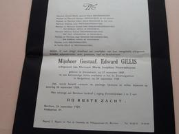 DB > Gustaaf, Edward GILLIS ( Maria Nieuwenhuysen ) Zwijndrecht 27 Nov 1887 - Borgerhout 24 Sept 1959 ! - Todesanzeige