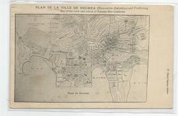Cpa Nouvelle Calédonie Plan De La Ville De Nouméa Et Faubourg Ed W Henry Caporn - Nouvelle Calédonie