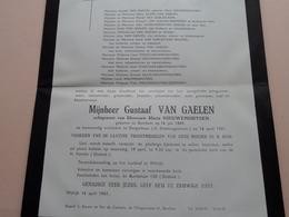 DB > Gustaaf VAN GAELEN ( Maria Nieuwenhuysen ) Berchem 16 Juli 1889 - Borgerhout 16 April 1961 ! - Todesanzeige