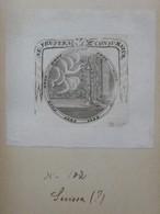 """Ex-libris Illustré XVIIIème - SUISSE ? - Avec Devise """"NE FRUSTRA CONSUMATUR"""" - Ex-libris"""