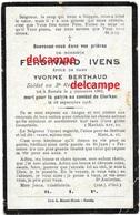 Oorlog Guerre Ferdinand Ivens Ronse Soldaat Gesneuveld Te Clerken September 1918 Diksmuide Klerken Renaix - Images Religieuses