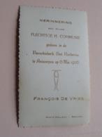 H. Communie Van François DE VRIES I/d Parochie Sint Norbertus ANTWERPEN Op 6 Mei 1956 ! - Communion