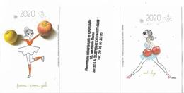 Calendriers - 2020 - Pomme-Pomme Girl - Eat-Bag _  Voir Scan - Recto - Verso - - Calendari