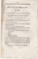Bulletin Des Lois 764 De 1840 Création Faculté Des Sciences à Rennes, Fondation Collège Royal à St Etienne - Décrets & Lois