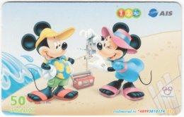 THAILAND F-788 Prepaid 1-2-Call - Walt Disney, Mouse Family - Used - Thaïland