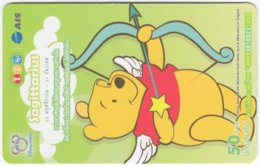 THAILAND F-796 Prepaid 1-2-Call - Walt Disney, Winnie Pooh, Signs Of Zodiac, Sagittarius - Used - Thaïland
