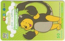 THAILAND F-799 Prepaid 1-2-Call - Walt Disney, Winnie Pooh, Signs Of Zodiac, Scorpio - Used - Thaïland