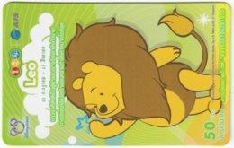 THAILAND F-803 Prepaid 1-2-Call - Walt Disney, Winnie Pooh, Signs Of Zodiac, Leo - Used - Thaïland