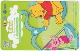 THAILAND F-804 Prepaid 1-2-Call - Walt Disney, Winnie Pooh, Signs Of Zodiac, Libra - Used - Thaïland