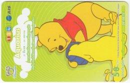 THAILAND F-807 Prepaid 1-2-Call - Walt Disney, Winnie Pooh, Signs Of Zodiac, Aquarius - Used - Thaïland