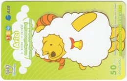 THAILAND F-809 Prepaid 1-2-Call - Walt Disney, Winnie Pooh, Signs Of Zodiac, Aries - Used - Thaïland