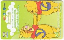 THAILAND F-811 Prepaid 1-2-Call - Walt Disney, Winnie Pooh, Signs Of Zodiac, Gemini - Used - Thaïland