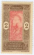 DAHOMEY, 1913, 2 C., FRANCOBOLLO NUOVO (MLH*) Mi:DY 43, Scott DY 43, Yt:DY 44, Sg:DY 43 - Benin – Dahomey (1960-...)