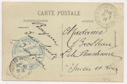 MONTIGNY S LOING Seine Et Marne 121° Régiment D'artillerie Lourde. 62e BATTERIE. - Marcophilie (Lettres)
