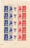 1 Feuille De 5 Bandes N° 571A  De 1943 Pur Une Cote De 90 Euros Voir Le Scan - Fogli Completi