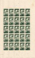 1 Feuille De 25 Exemplaires Du N° 586 De 1943 Voir Le Scan - Fogli Completi