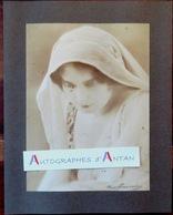 Photographie CHERI ROUSSEAU & GLAUTH - Portait Jeune Femme à Identifier - 16x22cm - Signature Photographe - Personnes Anonymes