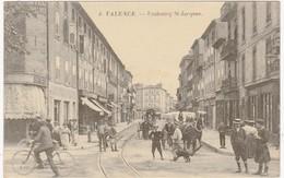 Drome : VALENCE : Faubourg St. Jacques ( Belle Animation - Cycliste, Attelage, Personnages Et Chien ) - Valence
