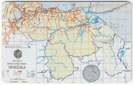 VENEZUELA B-303 Chip CanTV - Historic Map, Venezuela - Used - Venezuela