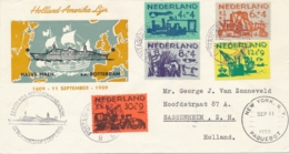 Nederland - 1959 - Kindserie Met Postagent SS Rotterdam / 9 Van New York Naar Sassenheim - Covers & Documents