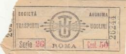 BIGLIETTO BUS TRAMVIE ROMA UGOLINI CENT.50 (BY57 - Europa