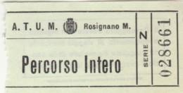 BIGLIETTO BUS ATUM ROSIGNANO PERCORSO INTERO (BY114 - Europe