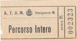BIGLIETTO BUS ATUM ROSIGNANO PERCORSO INTERO (BY115 - Busse