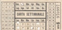 ABBONAMENTO SETTIMANALE BUS (BY163 - Season Ticket