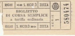 BIGLIETTO BUS GENOVA RIGHI S.NICOLO' ZECCA (BY164 - Europa