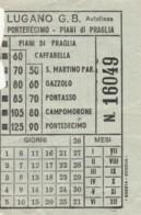 BIGLIETTO AUTOLINEA PONTEDECIMO PIANI DI PRAGLIA (BY187 - Busse