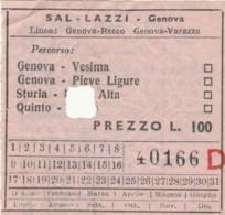 BIGLITTO BUS SAL-LAZZI GENOVA L.100 (BY188 - Europa