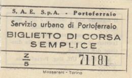 BIGLIETTO BUS URBANO PORTOFERRAIO (BY202 - Europa