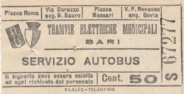 BIGLIETTO TRAMVIE BARI C.50 (BY214 - Bus