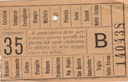 BIGLIETTO TRAMVIE GENOVA C.35 (BY226 - Bus