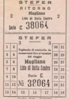 BIGLIETTO BUS STEFER MAGLIANA LIDO DI OSTIA (BY388 - Autobus