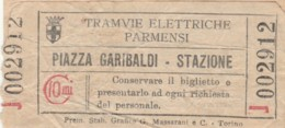 BIGLIETTO TRAMVIE ELETTRICHE PARMENSI C.10 (BY420 - Busse