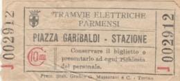 BIGLIETTO TRAMVIE ELETTRICHE PARMENSI C.10 (BY420 - Europa