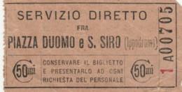 BIGLIETTO PIAZZA DUOMO S.SIRO 50 C. (BY421 - Europa